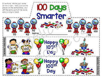 100th Day of School Activities : Crowns and Wristbands - 100th Day Craft