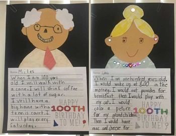 100th Day of School Activity/ Grandparents Day Display