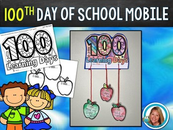 100th Day of School Activity MOBILE FREEBIE