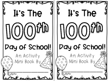 100th Day of School Activity Mini Book