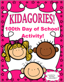 100th day of school Printables ELA Nouns Adjectives Game KIDAGORIES!