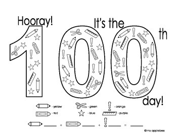 100th Day of School Activity Page