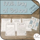100th Day of School Activity Set