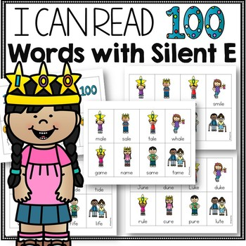 100 Days of School Activity Silent E Words
