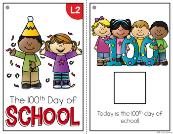 100th Day of School Adapted Book { Level 1 and Level 2 }
