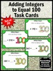Adding Integers Task Cards for 100th Day of School Math Games