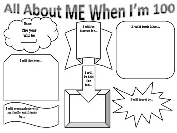 100th Day of School: All About Me When I'm 100!