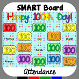 100th Day of School SMARTBoard Attendance
