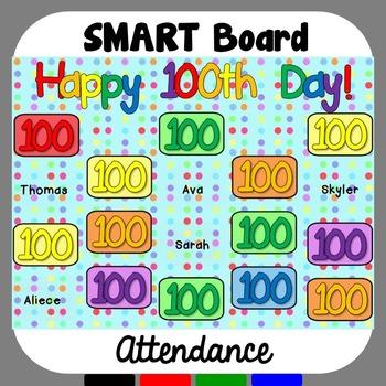 SMART Board Attendance: 100th Day of School