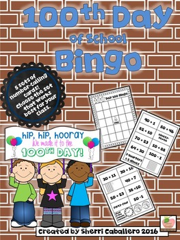 100th Day of School Bingo