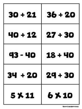 100th Day of School Bingo