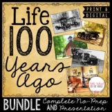 100th Day of School  Communities Now and Then BUNDLE | Distance Learning