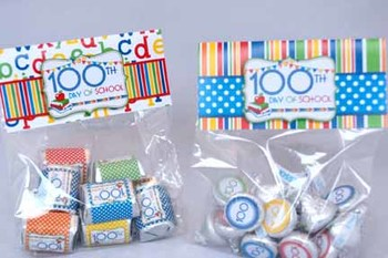 100th Day of School Bag Toppers
