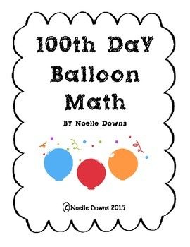 100th Day of School Balloon Math