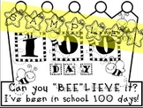 100th Day of School Bee Crown