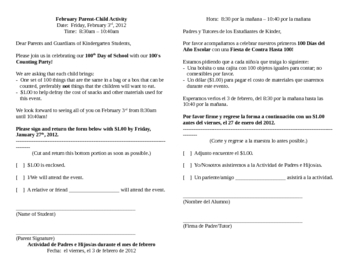 Editable invitations teaching resources teachers pay teachers 100th day of school bilingual parent invitation stopboris Gallery