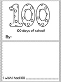 100th Day of School Booklet English