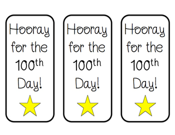 100th Day of School Bookmark