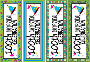 100th Day of School Bookmarks-N-Certificates