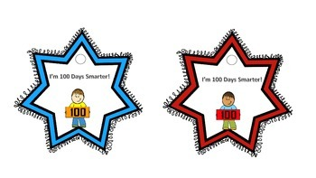 100th Day of School Brag Tag