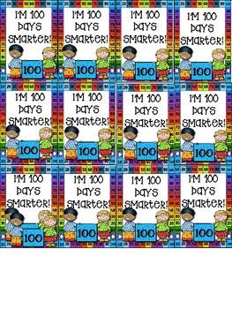 100th Day of School Brag Tags