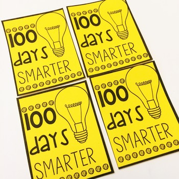 100th Day of School Brag Tags- Classroom Management Tool