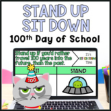 100th Day of School Brain Break Stand Up Sit Down Game
