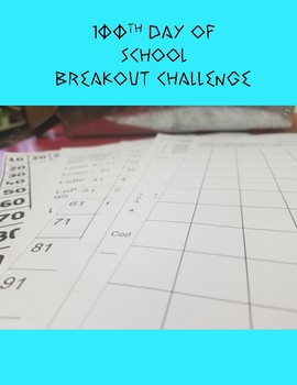 100th Day of School Breakout Challenge