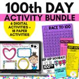 100th Day of School Bundle - Google Slides Digital PLUS Pr