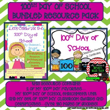 100th Day of School Bundled Resource Pack