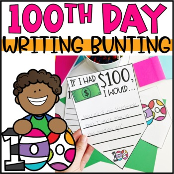 100th Day of School Bunting Banner