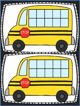Countdown to the 100th Day of School with Ten Frame Buses