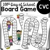 100th Day of School CVC Board Game