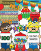 100th Day of School Celebration Clipart