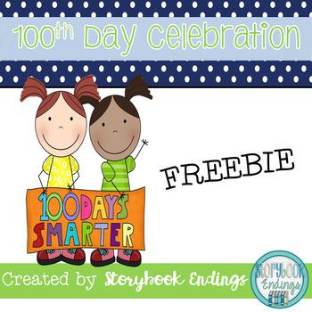 100th Day of School Celebration Freebie