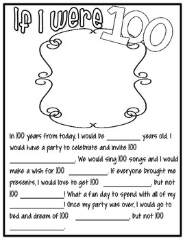 100th Day of School Celebration Packet