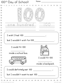 100th Day of School Celebration Packet {Lower Grades} Four-eyes Freebie!