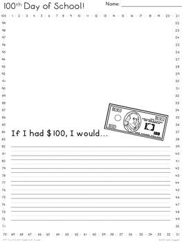 100th Day of School Celebration Packet {Lower Grades} Four-eyes Freebie!