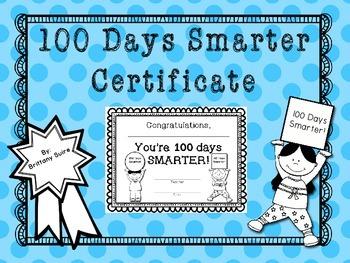 100th Day of School Certificate {FREEBIE} !