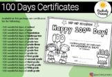 100th Day of School Certificate - All year levels!