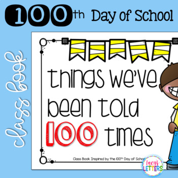 100th Day of School Class Book