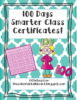 100th Day of School Class Certificate