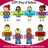 100th Day of School Clip Art by Jeanette Baker