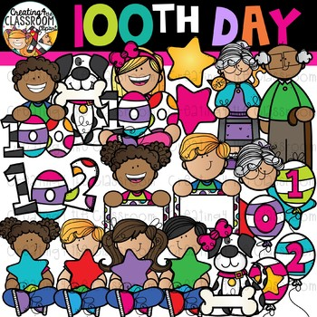 100th Day of School Clipart  {100 Days of School Clipart}