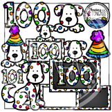 100th Day of School Clipart