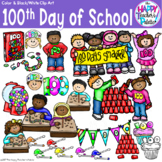 HTP Clip Art 100th Day of School {The Happy Teacher's Palette}