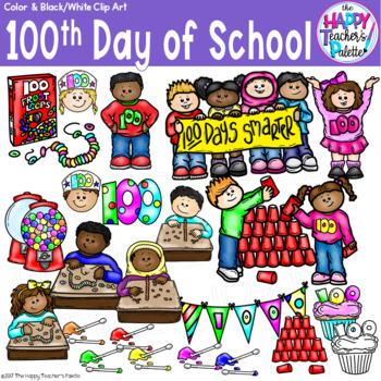 HTP Clip Art 100th Day of School {The Happy Teacher's Palette}