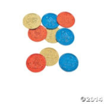 100th Day of School Coins