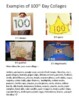 100th Day of School Parent Letter - Collage Project with Example Sheet