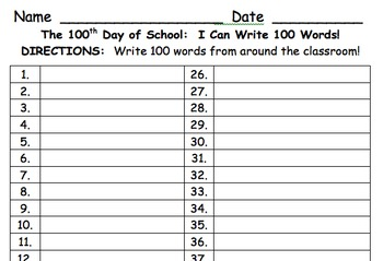 100th Day of School Collection